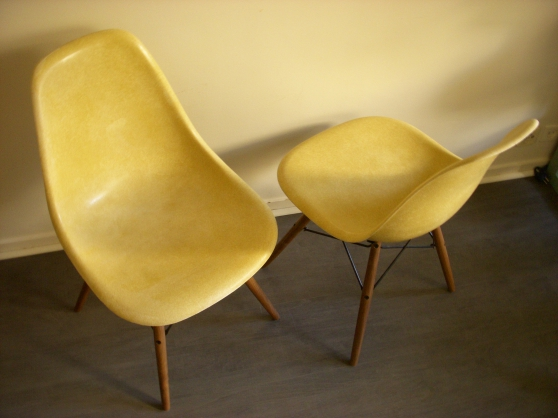 chaises eames herman miller ochre paris. Black Bedroom Furniture Sets. Home Design Ideas