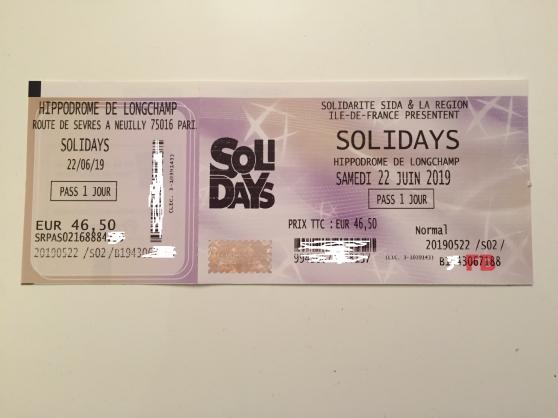 Solidays - Pass 1J - Samedi 22 juin 2019