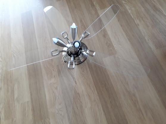 Ventilateur plafond 3 spots