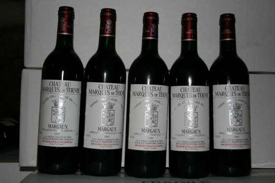 lot de 5 Margaux Marquis de Terme 1993