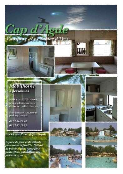 Location Mobil Home Cap D'Agde