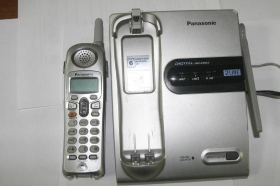 Téléphone Panasonic sans fil et sa base