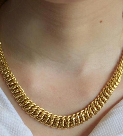 Petite Annonce : Parures collier gourmette américaine or - Bonjour vend manifique parures collier américain gourmette américaine