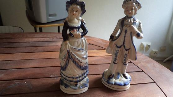 Petite Annonce : Statuettes porcelaines - Vend 2 statuettes porcelaines homme et femme comme neufs débarrassé