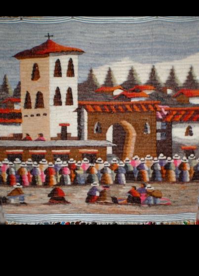 Tapis mural pérouvien