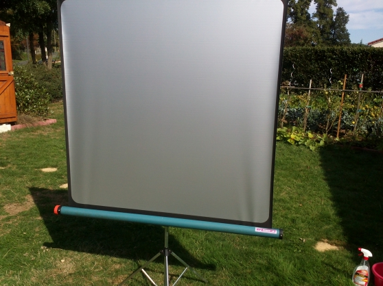 Ecran projection Modern 130 pied métal - Photo 2