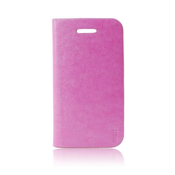 Etui coque Flip Galaxy S4 - Rose