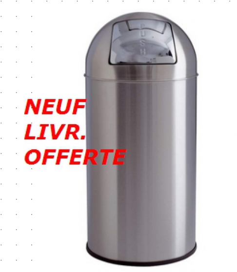 poubelle dome inox - Annonce gratuite marche.fr