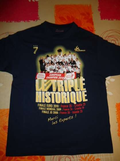 Maillot triplé Historique Handball - Photo 3