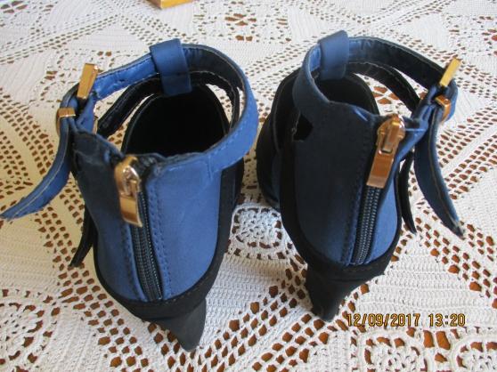 chaussures femme en daim noir & bleu - Annonce gratuite marche.fr