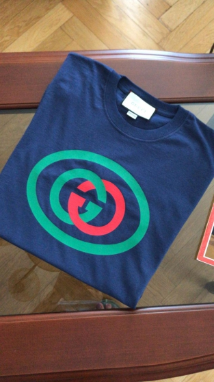"Neuf Gucci GG Tee-shirt ""M"" logo cercle"