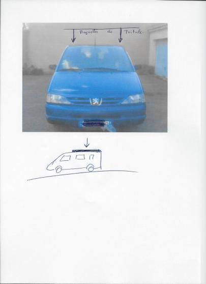 Peugeot 806 citroen evasion Baguette de