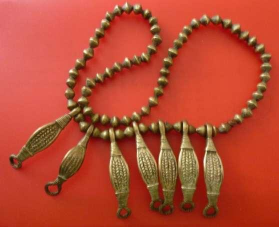 Collier africain bronze