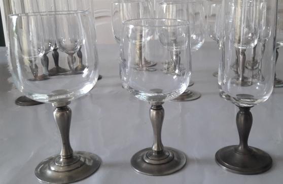 Annonce occasion, vente ou achat '18 verres pieds en étain'