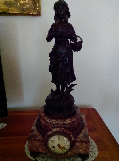 Sculture candélabres Pendule De C.ANFRIE
