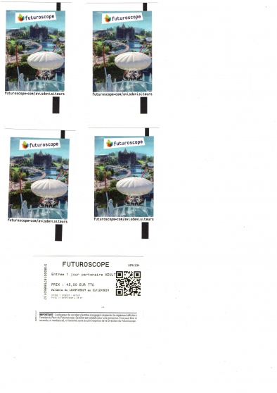 FUTUROSCOPE/BILLETS ADULTES