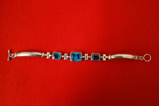 Bracelet argent avec 3 véritables Topaze - Photo 2