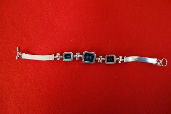 Bracelet argent avec 3 véritables Topaze - Photo 4