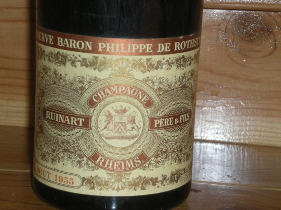 Petite Annonce : 1 bouteille de champagne réserve philipp - Bouteille de champagne Ruinart brut 1955.reserve baron philippe de
