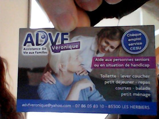 Annonce occasion, vente ou achat 'ADVFveronique Assistante de vie aux familles'