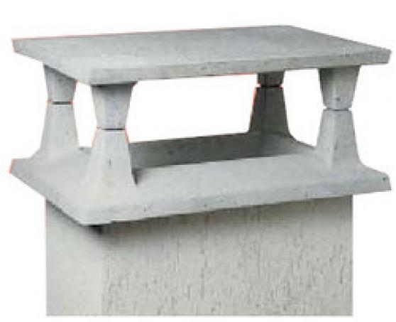 Chapeau de chemin e b ton mat riaux de construction carreau de pl tre b ton - Chapeau pour conduit de cheminee ...