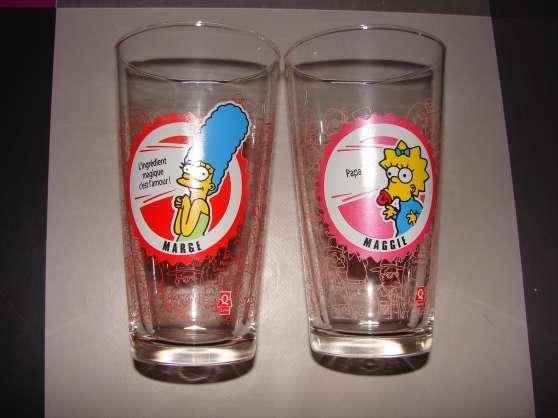 Lot de 2 verres Simpson