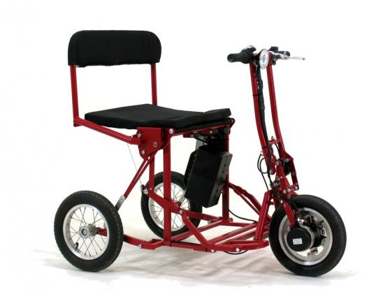 Scooter électrique pliable noir ou rouge