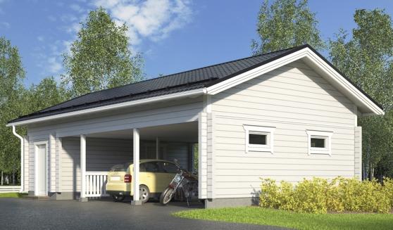 Garage bois 80 m²
