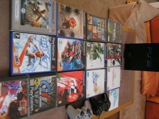 ps2 tbe+ 2 manettes+26 jeux+ carte mem