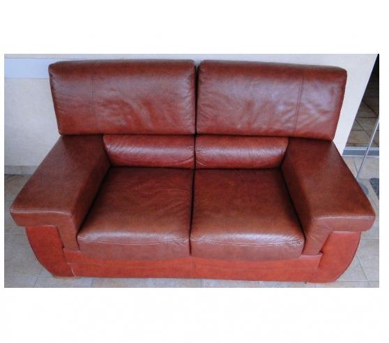 Canapé en CUIR, 2 places - Etat neuf