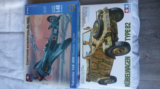 2 maquettes : Yakovlev + Kübelwagen