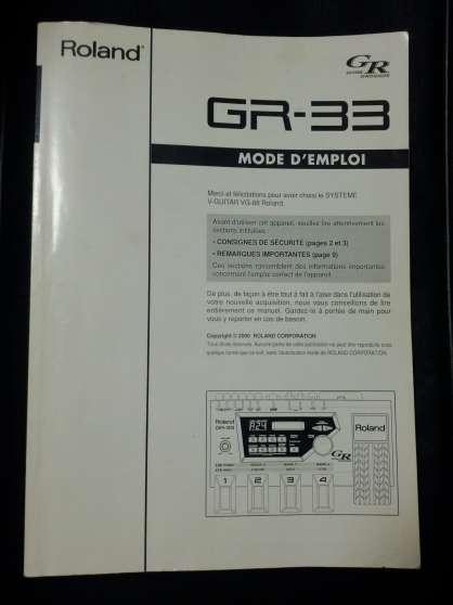 Manuel d'instruction Roland GR-33