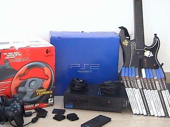 PS2 + 12 jeux + accessoires