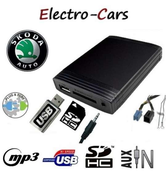INTERFACE USB,SD,AUX AUTORADIO SKODA