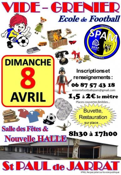 vide grenier de l'e.f.spam - Annonce gratuite marche.fr