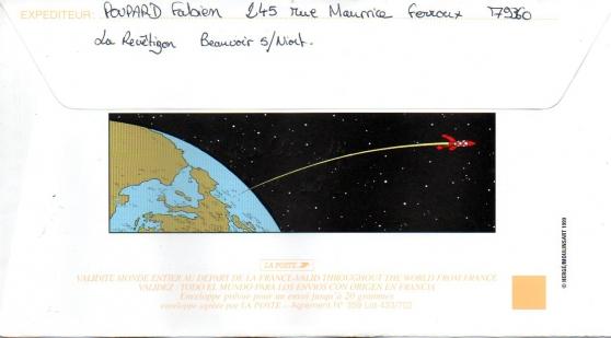 Enveloppe décorée Tintin - Photo 2