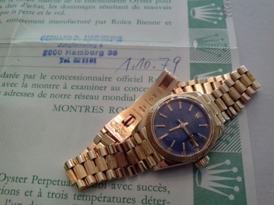 Annonce occasion, vente ou achat 'Montre Rolex femme Oyster Perpetual Date'