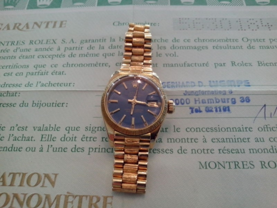 Montre Rolex femme Oyster Perpetual Date - Photo 2