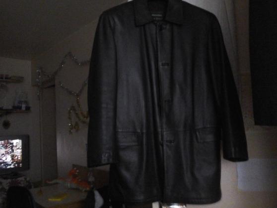 Veste noire cuir ,agneau (homme)