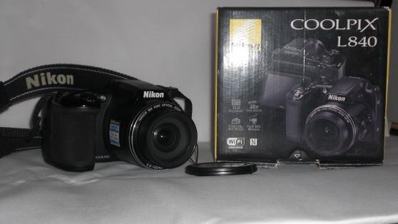 Petite Annonce : Nikon coolpix l840 - Je vend un appareil photo numérique bridge Nikon L840 avec 4