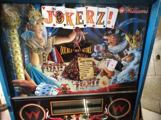 Annonce occasion, vente ou achat 'Flipper jokerz williams'