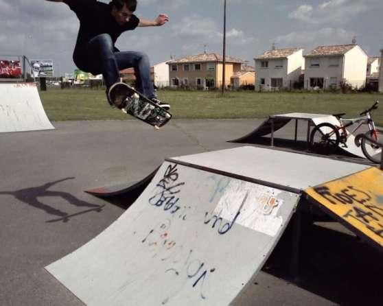 Cours de Skateboard.