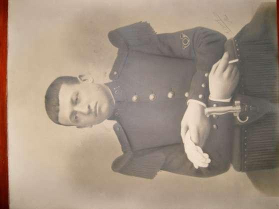 photo militaire sur support carton