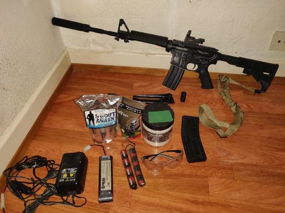 Annonce occasion, vente ou achat 'Réplique M4 king arms airsoft avec acces'