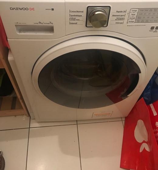 Annonce occasion, vente ou achat 'machine à laver DAEWOO/Lavage 9kg'
