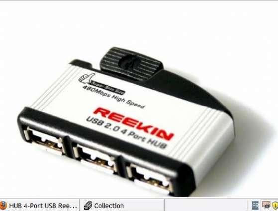 Annonce occasion, vente ou achat 'HUB 4-Port USB Reekin Aluminium'