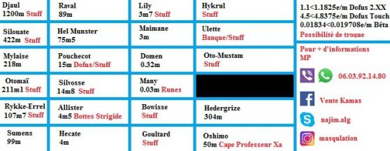 fournisseur de kamas sur dofus - Annonce gratuite marche.fr