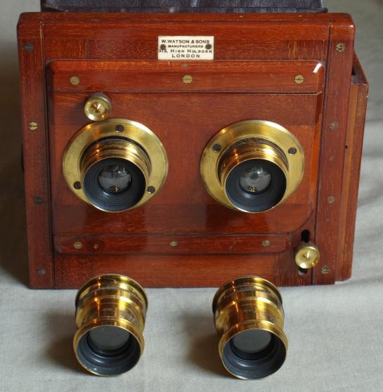 Watson 1/2 plate Stereo mahogany plate c - Photo 2