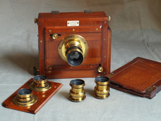 Watson 1/2 plate Stereo mahogany plate c - Photo 3