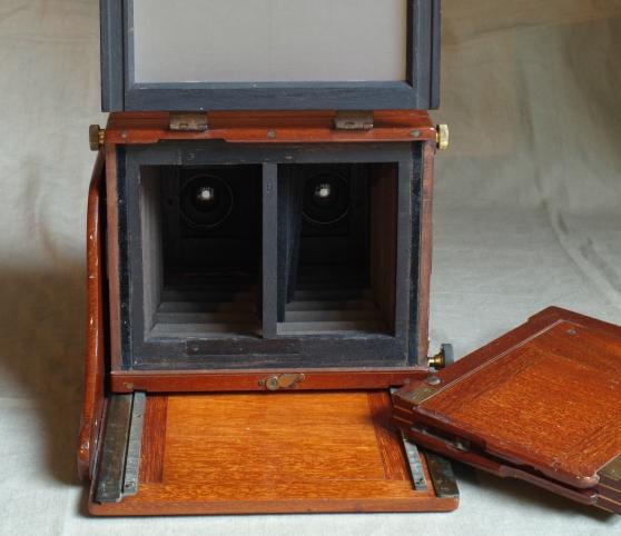Watson 1/2 plate Stereo mahogany plate c - Photo 4